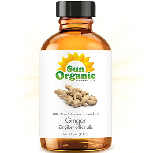 Ginger - Large 4 Ounce - Organic, 100% Pure Essential Oil (Best 4 Fl Oz / 118Ml) - Sun Organic