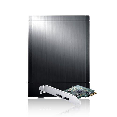 Sans Digital TowerRAID TR4UT+B - 4 Bay USB 3.0/eSATA Hardware RAID 5 Tower with 6G PCIe 2.0 HBA (Black)