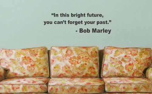 Bob Marley In This Bright Future Quote Decal Wall Vinyl Art Music Reggae
