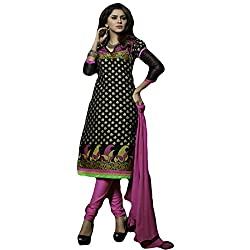 Typify Women's Chanderi Unstitched Dress Material (TYPIFY223_Multicolor_Free Size)