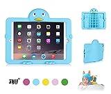 Apple iPad Mini/Mini Retina/Mini 3 (Released 2014) Stand Case for Kids, FYY®Supreme Protective Silicone Stand for Kids Penguin Cyan