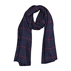 FabSeasons Blue Chexs Cotton Scarf, Scarves, Stole and Shawl for Men