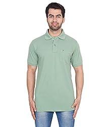 Gio Men's Cotton T-Shirt (AMZ_AMP_178_Green_Large)