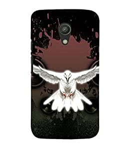 99Sublimation Flying white Pigeon 3D Hard Polycarbonate Back Case Cover for Motorola Moto G2 :: 2nd Gen :: G XT1068 :: G 2nd Gen :: G Dual SIM 2nd gen :: G Dual SIM 2014