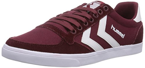 hummel HUMMEL SL STADIL CANVAS LO, Low-Top Sneaker unisex adulto, Rosso (Rot (Cabernet 3661)), 45