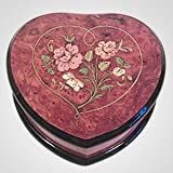 Italian Inlaid Wood Heart Music Box