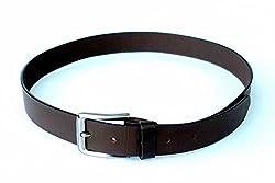 Leather Mart Men Formal Brown Genuine Leather Belt Eco Range 34 Inch Waist Size