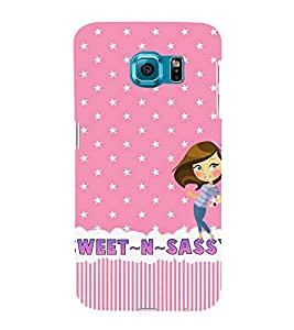 Sweet And Sassy Cute Fashion 3D Hard Polycarbonate Designer Back Case Cover for Samsung Galaxy S6 Edge :: Samsung Galaxy S6 Edge G925 :: Samsung Galaxy S6 Edge G925I G9250 G925A G925F G925FQ G925K G925L G925S G925T