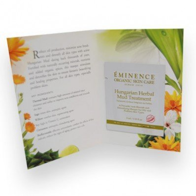 Eminence Sample Hungarian Herbal Mud Treatment Masque Set of 6 Card Samples