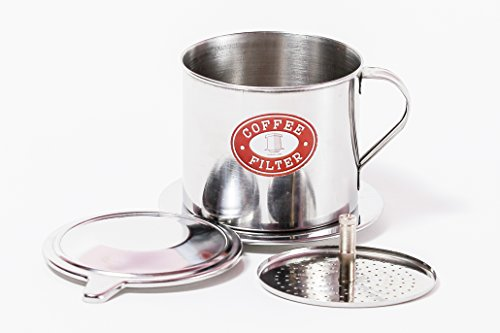 Vietnamese Coffee Filter Maker. Traditional brewer from Vietnam. Screw Down Insert. Sizes S, M, or L in 1, 2 or 3 pack (1, Large (11 oz)) (Coffee Filter Set Vietnamese compare prices)