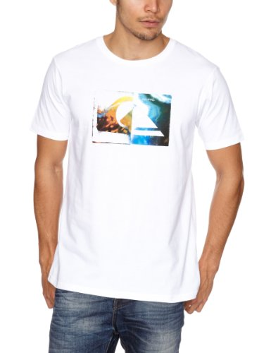 Quiksilver Basic Tee KPMJE90938 Logo Men's T-Shirt White Small