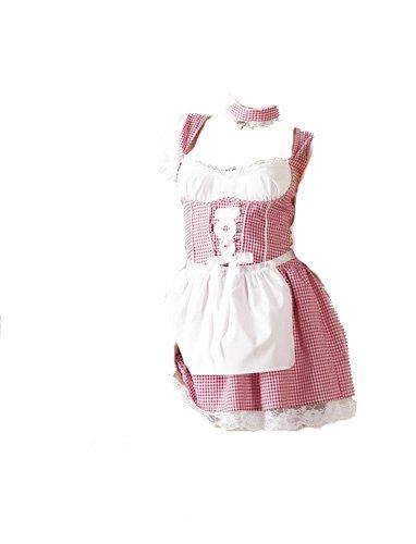 Cottelli Collection OV-Grosshandel Dirndl weiß/rot L Kostüm kaufen