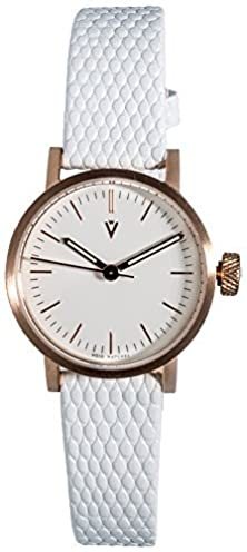 buy Void Womens V03P-Co/Wl/Wh Petite White Leather Strap Gold Watch