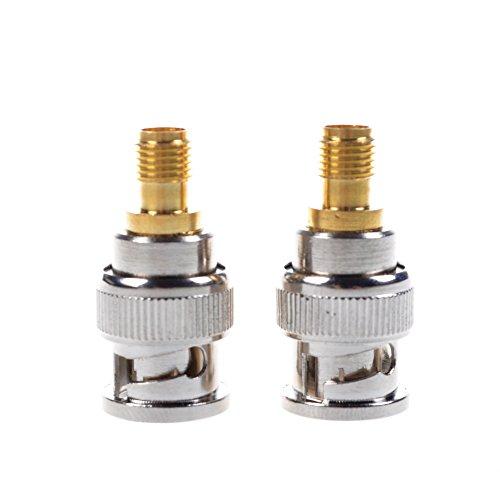 Bluecell 2 Pcs BNC Male to SMA Female Plug Coax Adapter