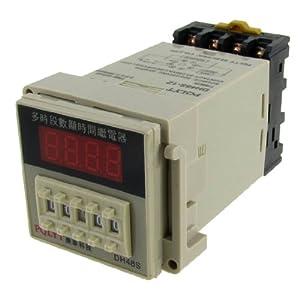AC 220V 240V Digital Timer Time Delay Relay 0.01S - 99H 99M 8 Pins w Socket