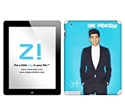 Zing Revolution One Direction Premium Vinyl Adhesive Skin for iPad 2 (Wi-Fi/Wi-Fi + 3G), Zayn Blue Bright (MS-1D980250)