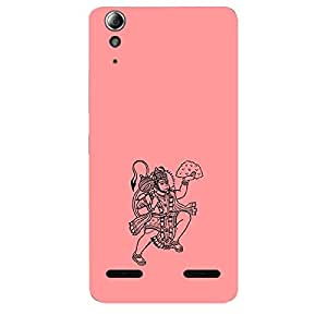 Skin4gadgets Lord Hanuman Balaji - Line Sketch on English Pastel Color-Peach Phone Skin for LENOVO A6000