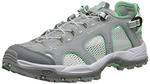 Salomon - Techamphibian 3, Sandali Sportivi da donna, grigio (light onix/white/lucite green), 36 2/3