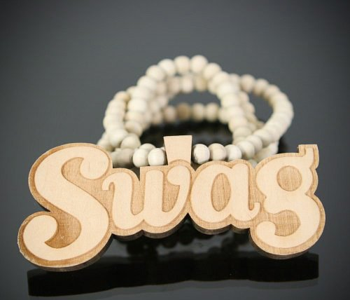 Swag Necklace Natural Good Quality Wood Piece