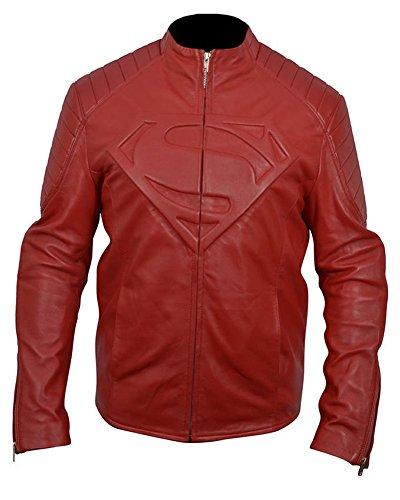 Classyak Men's Fashion-Giacca da donna in vera pelle di qualità Faux Red XXXXX-Large