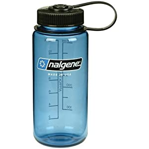 Nalgene 16 oz Tritan Wide Mouth Water Bottle - Slate/Black