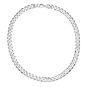 Ornami Sterling Silver Curb Chain Necklace 56cm Length