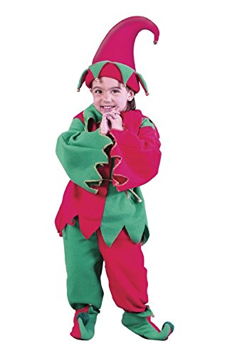 Fun World Costumes Baby Girl's Toddler Elf Costume Hat Tunic Shoes