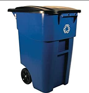 RUBBERMAID BRUTE Rollout Recycling Container - Blue