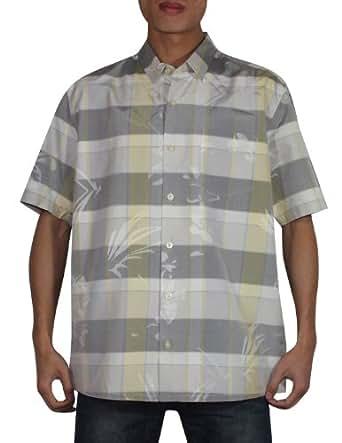 Tommy bahama mens button down short sleeve silk plaid camp for Mens silk shirts amazon