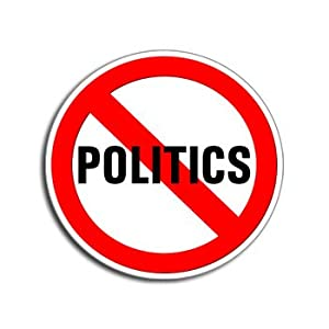 Amazon.com: NO POLITICS - Window Bumper Laptop Sticker: Automotive