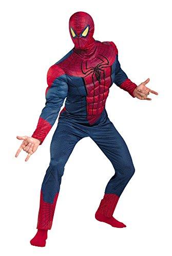 UHC Men's Amazing Spiderman Classic Muscle Superhero Halloween Costume, Plus (50-52)