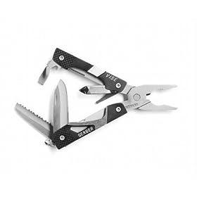 Gerber 30-000017 Vise Mini Pliers Keychain Tool, Ten Functions, Black