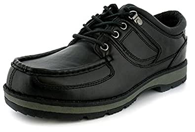 New Mens/Gents Black Lace Up Casual Shoes. Ideal For School Or Office - Black - UK SIZE 15