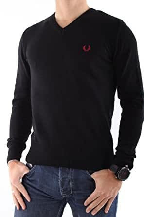 Fred Perry - HOMME - Pulls - PULL COL V - Noir - XL