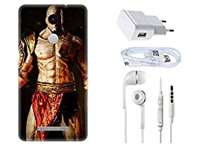 Spygen XIAOMI REDMI Note-3 Case Combo of Premium Quality Designer Printed 3D Lightweight Slim Matte Finish Hard Case Back Cover + Charger Adapter + High Speed Data Cable + Premium Quality Handfree