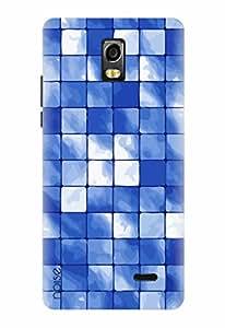 Noise Designer Printed Case / Cover for Lyf Water 10 / Patterns & Ethnic / Aqua Ocean Design