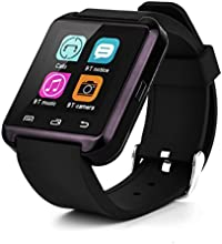 "Swees U8 - Reloj inteligente (pantalla 1.48"", Bluetooth, USB) para Android, IOS, color negro"