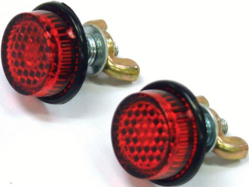 Licence/Number Plate Reflector Mounting Nuts (Pair) - Red