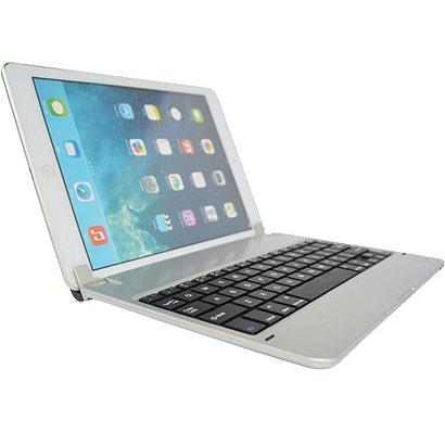 F.G.SBluetooth3.0搭載 ipad air 専用 キーボード カバー/ケース スタンド機能付き日本正規代理店品 (iPad air専用合鍵タイプ)〈macbookへ変身〉, シルバー)