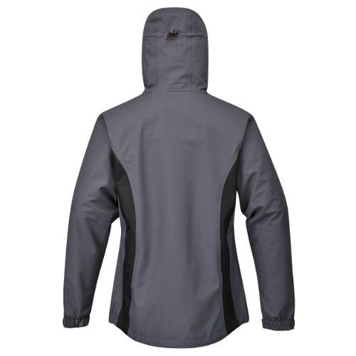 Cox Swain Damen 3-Lagen Hardshell Outdoor Jacke Lisa 15.000mm Wassersäule 10.000mm atmungsaktiv, Farbe: Grey/Black, Größe: M -