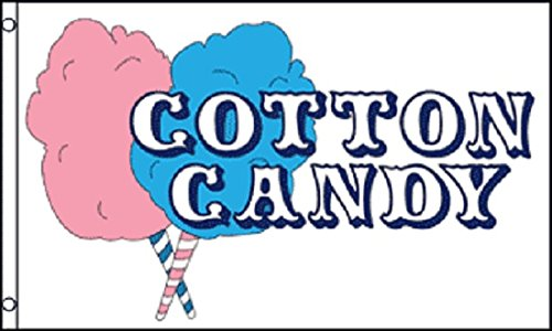 COTTON CANDY Flag Concession Advertising Sign Food Snack Bar Fair Pennant 3x5 (Concession Snacks compare prices)