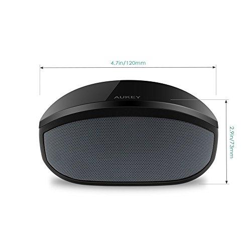 Aukey ® Altavoz portátil con bluetooth para teléfonos inteligentes, tabletas, ordenadores portátiles (BT013 Negro)
