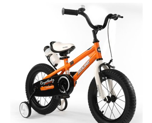 RoyalCycle BMX Freestyle,kids Bike, Boys Bike, Girls Bike, Steel Frames (Orange, 16 Inch)