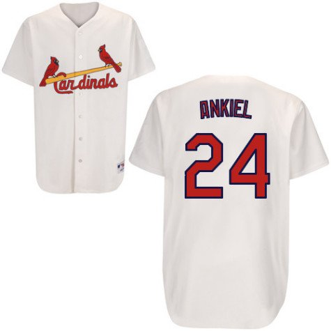 Youth St. Louis Cardinals #24 Rick Ankiel Home Replica Jersey - S 8 at Amazon.com