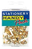 6 PACKS Stationery Handy Pack Brassed Paper Fasteners