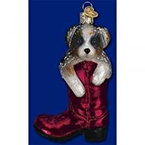 Ornament Puppy In Boot