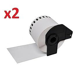 2 x P-Touch DK-11209 Rouleau etiquettes papier multi-usages (800 étiquettes par rouleau)