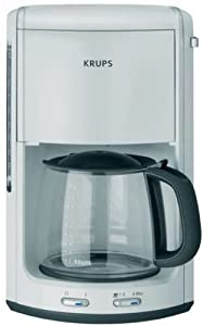 krups f md2 41 proaroma plus white coffee maker kitchen home. Black Bedroom Furniture Sets. Home Design Ideas