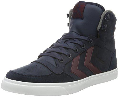 hummel-stadil-winter-sneaker-scarpe-da-ginnastica-alte-unisex-adulto-blu-total-eclipse-46-eu