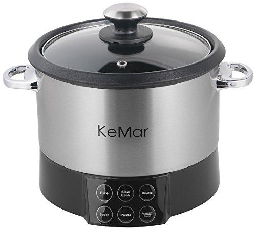 KeMar-KMC-218-Multifunktionskocher-Reiskocher-mit-Rhreinsatz-BPA-frei-6-in-1-Gert-Reis-Risotto-und-Pasta-Saut-und-Warmhaltefunktion
